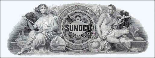 sunoco engraved stock certificate
